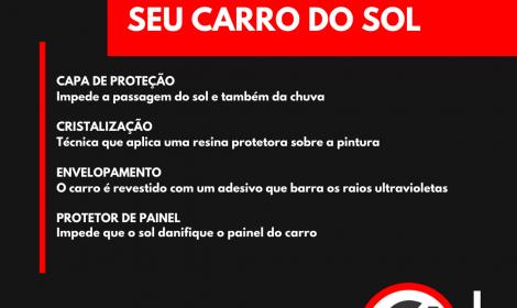 DICAS PARA PROTEGER SEU CARRO DO SOL