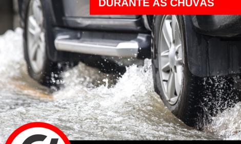 Cuidados com o carro durante as chuvas